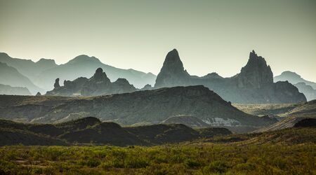 Big Bend National Park, USA. View of distant mountains in the morning