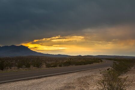 Big Bend National Park, USA. Picture taken at sunset