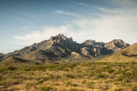 Big Bend National Park, USA. View of mountains. Stock Photo