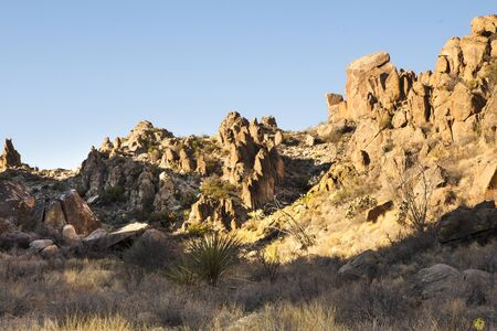 Trail to Balanced rock, Big Bend National Park, grapevine hills