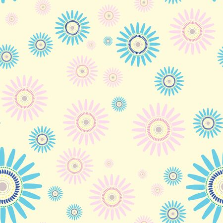 Flower seamless repeating vector pattern