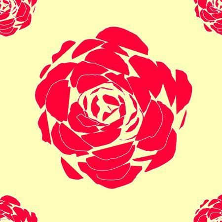 Flower seamless repeating vector pattern Ilustração
