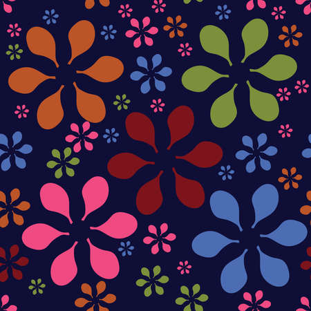 Flower seamless repeating vector pattern Illustration