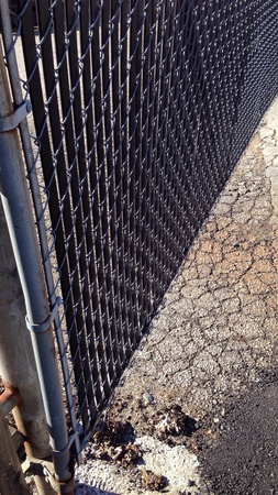 fence: Fence and pavement