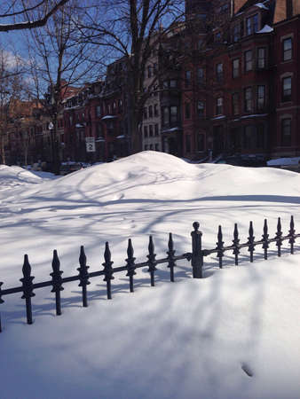 fence: Fence in snow