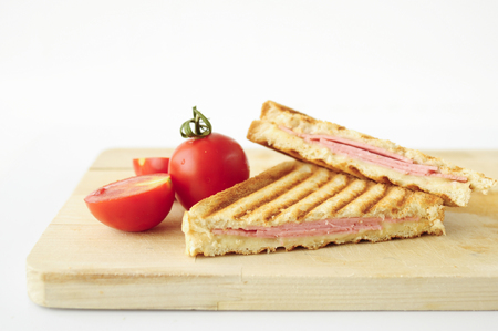 sandwich toast grilled with cheese and tomatoes Stock Photo