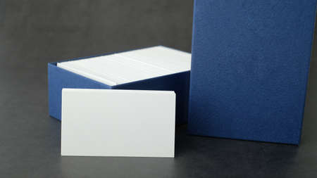 white name card mock up for marketing,branding and printing. Zdjęcie Seryjne - 153252585