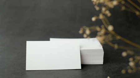 white business card mock up for marketing,branding and printing. Zdjęcie Seryjne - 154450628