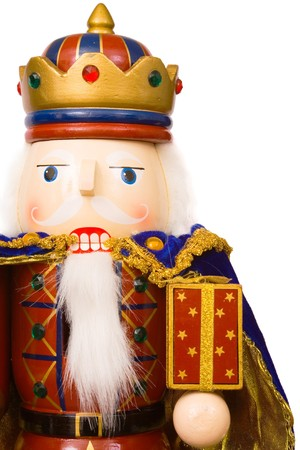 A traditional Christmas nutcracker ornament isolated on white Stock Photo - 4405652