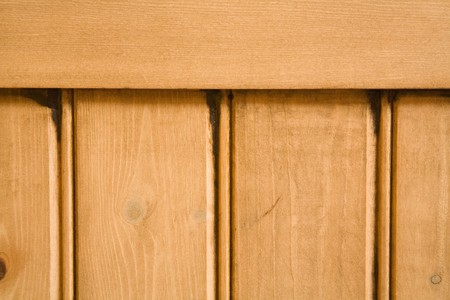 Detail of wooden panelled furniture photo