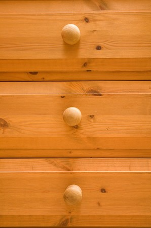 Detail of pine chest of drawers Stock Photo - 4405655