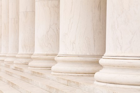 Marble stone columns in a row and steps, ideal for classic background Stock Photo - 4405575