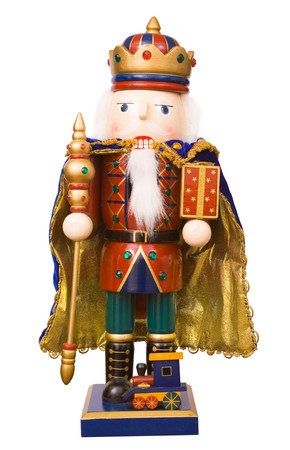 A traditional Christmas nutcracker ornament isolated on white Stock Photo - 4460890