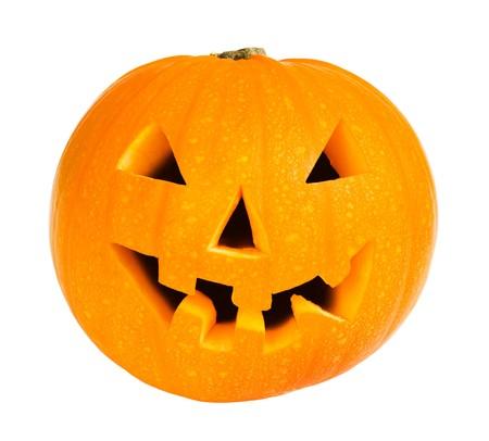 citrouille halloween: Halloween citrouille isol� sur un fond blanc