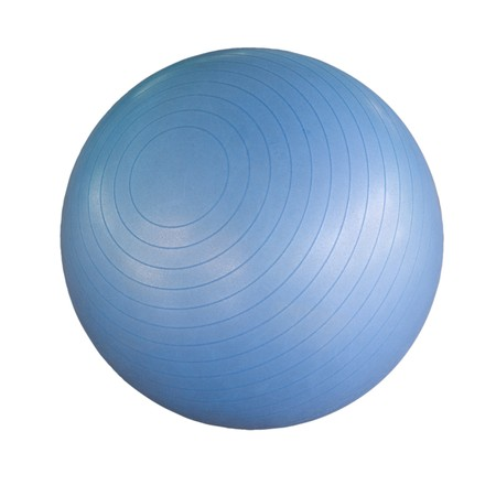 Schweizer Blue Ball isoliert vor einem weißen Hintergrund
