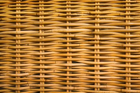 Detail of the pattern in rattan furniture