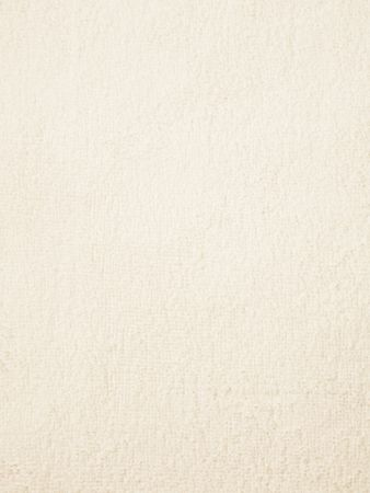 Detail of the pile on a white cotton rug or carpet Stock Photo