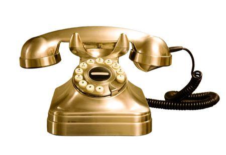 Retro style rotatif téléphone isolé sur un fond blanc Banque d'images - 4948298