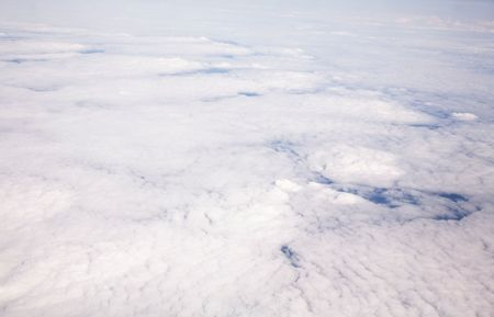 cloud formation: Aerial view of cloud formation taken from high altitude Stock Photo