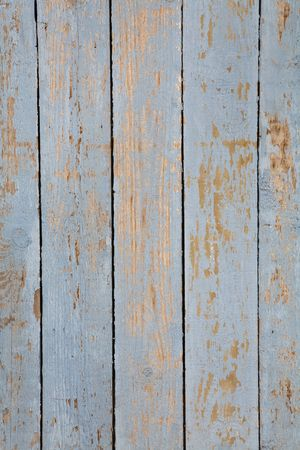 Grungy blue paintwork on a wooden panel photo