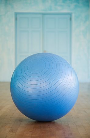 Closeup of swiss ball in a fitness studio Stock Photo - 5999241