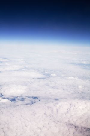 cloud formation: Aerial view of cloud formation and sky taken from high altitude