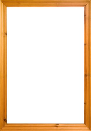 wood textures: Wooden frame with white isolated area. Could also be used as a whiteboard. Stock Photo