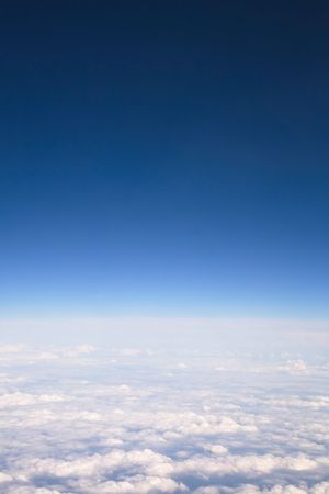 copyspace: Aerial view of clouds and sky with copyspace