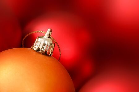 Christmas decorations with space for text photo
