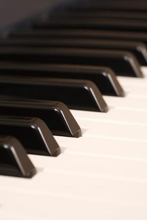 teclado de piano: Detalle de las teclas de un piano