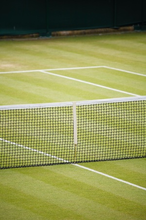 tennis net: Tennis court detail with space for text Stock Photo