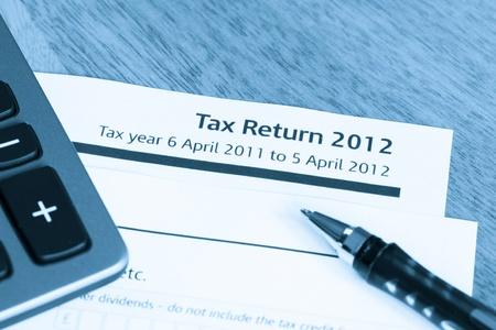 podatnika: Fajne stonowanych obraz brytyjskiego podatku dochodowego formie zwrotu za 2012 r.