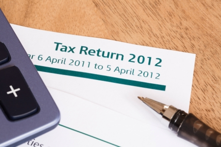 Closeup of UK Income tax return form with tax period for 2012 Stock Photo - 14293362