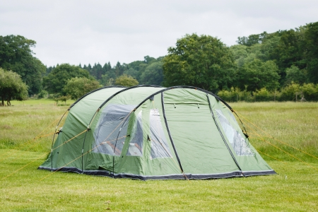 overnight stay: Tent in a camping site in the New Forest, England