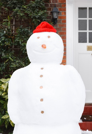 Close up of real snowman in wintertime Stock Photo - 15812374