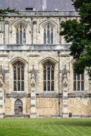 winchester: Laterale della navata della Cattedrale di Winchester, Hampshire, Regno Unito