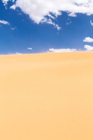 Close up of a sand dune in the desert during the day photo