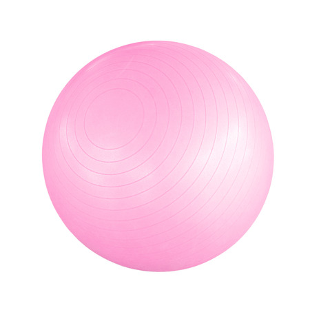 exercise ball: Swiss ball isolated on a white background Stock Photo