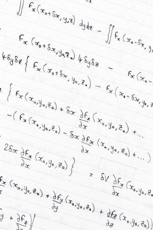 divergence: Hand written study notes with equations for divergence