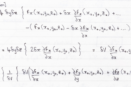 equations: Hand written study notes for math with equations
