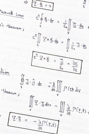 formulae: Equations of heat conduction, thermodynamics physics closuep Stock Photo