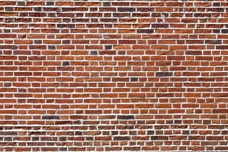 red brick: Red brick wall, ideal for a background