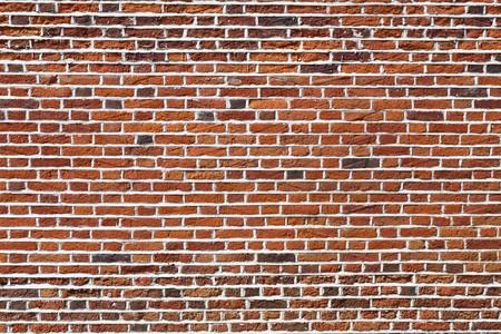 Rode bakstenen muur, ideaal voor een achtergrond
