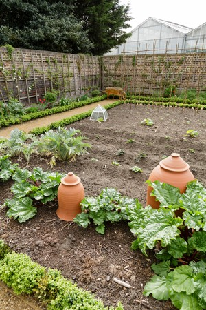 LONDON, UK - CIRCA 2014: Vegetable garden at the Royal Kitchen Garden, Kew