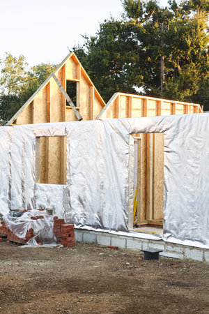 Annexe, annex or house extension build with timber frame and wall insulation Reklamní fotografie