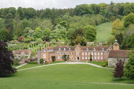 Henley-on-Thames, UK - May 25, 2013. Stonor Park, a historic country house and park situated in a valley in the Chiltern Hills near Henley-on-Thames, Oxfordshire, UK