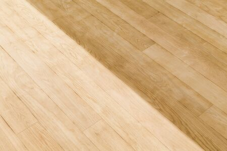 Sanding and staining or waxing a wood floor in a room, UK