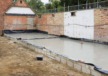 New foundations as part of the rebuild of a period house in UK