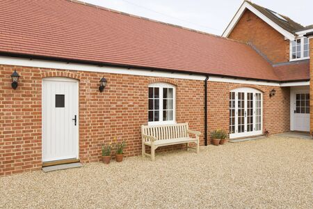Home extension or addition, UK barn conversion to provide a single storey granny annexe, annex