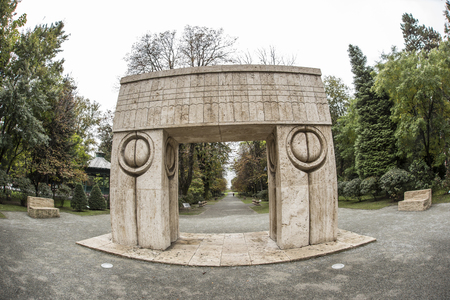 Constantin Brancusis Kissing Gate  Fisheye view